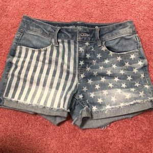 Girls Stars and Stripes jean shorts